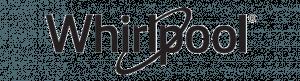 Whirlpool brand logo in black lettering